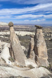 Valley of Capadocia. Turkey. View of rocks of Capadocia Royalty Free Stock Photography