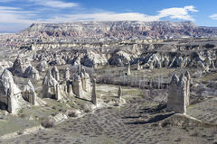 Valley in Capadocia. Turkey. View of rocks of Capadocia Stock Image