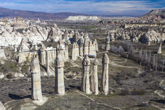 Valley in Capadocia. Turkey. View of rocks of Capadocia Royalty Free Stock Photography
