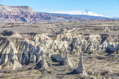 Valley of Capadocia. View of rocks of Capadocia Royalty Free Stock Images