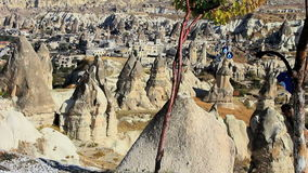 Valley in cappadokia stock video footage