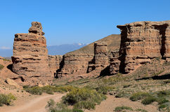 Valley of castles. Charyn canyon national Park in Kazakhstan stock image