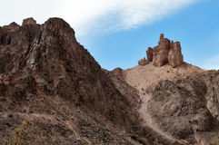 Valley of Castles in Sharyn Canyon. Sharyn Canyon is an 80 km canyon on the Sharyn River, 200 kilometres east of Almaty. Kazakhstan Stock Photography