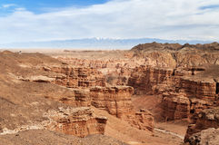 Valley of Castles in Sharyn Canyon. Sharyn Canyon is an 80 km canyon on the Sharyn River, 200 kilometres east of Almaty. Kazakhstan Royalty Free Stock Images