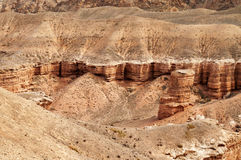 Valley of Castles in Sharyn Canyon. Sharyn Canyon is an 80 km canyon on the Sharyn River, 200 kilometres east of Almaty. Kazakhstan Stock Photos