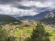 Valley of the Catalan Pyrenees Royalty Free Stock Photography