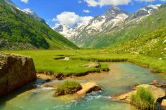 Valley in Caucasus Royalty Free Stock Photos
