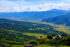 Valley and Central Mountain,Taiwan Royalty Free Stock Photo