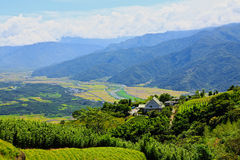 Valley and Central Mountain,Taiwan Royalty Free Stock Images