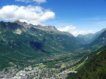 Valley chamonix Stock Photo