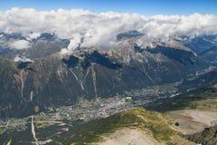 Valley of Chamonix Royalty Free Stock Photos