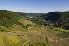 Valley in the Chateau-Chalon, Jura Royalty Free Stock Photography