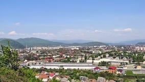 Valley city of Mukachevo. The beautiful city of Mukachevo Valley Royalty Free Stock Photography
