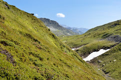 Valley at Col du Petit-Saint-Bernard in France Royalty Free Stock Images