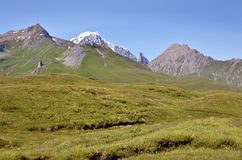 Valley at Col du Petit-Saint-Bernard in France Royalty Free Stock Photography