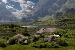 A Valley in County Kerry. A valley near the Gap of Dunloe in County Kerry Ireland Royalty Free Stock Photos