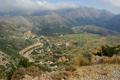 Valley. Crete. Lefka ori. View from above Stock Photo