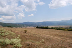 The valley. In Crimean mountains at hot summer midday Stock Images