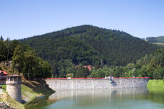 Valley dam Royalty Free Stock Photography