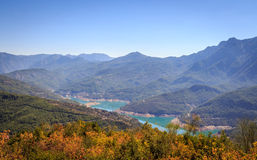 Valley Dimcay. Landscape of river Dimcay in Alanya, Turkey with mountains in the background Stock Image