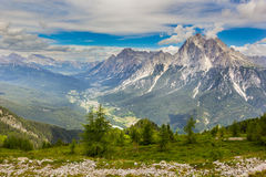 Valley in the Dolomites, Alps, Italy Stock Images