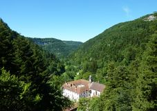 The valley in the Doubs (france) Royalty Free Stock Photography