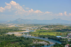 Valley of Drin river royalty free stock photo
