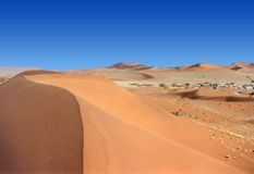 Valley of dunes Stock Photography