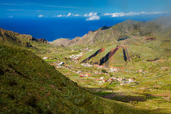 Valley of El Palmar with the hill form of a sliced pie Royalty Free Stock Photos