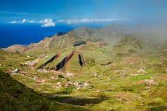 Valley of El Palmar in the Teno mountain range Royalty Free Stock Photo