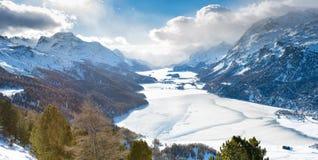 The valley of Engadine St. Moritz Switzerland Royalty Free Stock Images