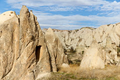 Valley of Fairy Chimneys in Cappadocia, Turkey Royalty Free Stock Photography