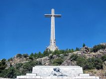 Valley of the Fallen. Monument of conciliation to the dead of the civil war in the Valley of the Fallen stock images