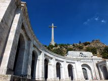 Valley of the Fallen. Monument of conciliation to the dead of the civil war in the Valley of the Fallen stock photo