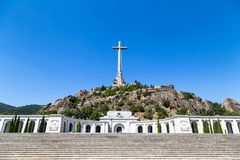 Valley of the Fallen Valle de Los Caidos, the burying place of the Dictator Franco, Madrid, Spain. Valley of the Fallen Valle de Los Caidos, the burying place of royalty free stock photos