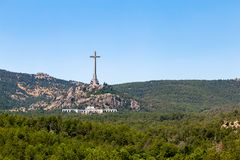 Valley of the Fallen Valle de Los Caidos, the burying place of the Dictator Franco, Madrid, Spain. Valley of the Fallen Valle de Los Caidos, the burying place of royalty free stock photography