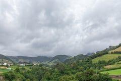 Valley and Fazenda de Santa Cruz. The small town of Fazenda de Santa Cruz in Flores stock photos