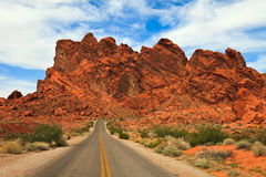 The Valley of Fire Stock Photography