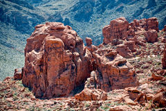 Valley of Fire. The rocks in fire like colors, in the Valley of fire near Las Vegas, Nevada in USA Stock Image