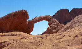 A Valley of Fire Arch Rock View Stock Photography