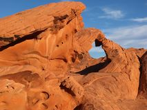 Valley of Fire Arch Stock Photo