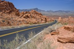 Valley of Fire Highway stock images
