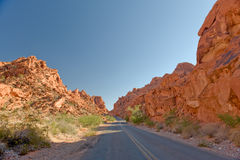 Valley of Fire Highway Royalty Free Stock Photos