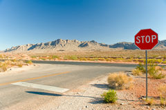 Valley of Fire Highway Royalty Free Stock Photography