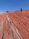 Valley of Fire - Hiker Royalty Free Stock Photos