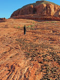 Valley of Fire - Hiker Stock Photo