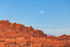 Valley of Fire Moonrise Stock Photography