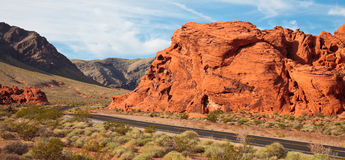 Valley of Fire Morning Panorama Stock Images