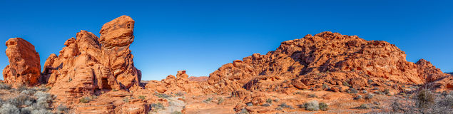 Valley of Fire Pano Landscape Stock Image