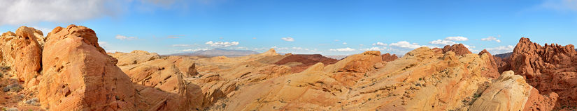 Valley of Fire pano Stock Photography